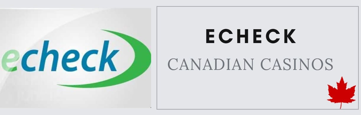 canadian online casinos that accept echeck