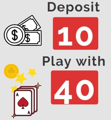 deposit 10 play with 40