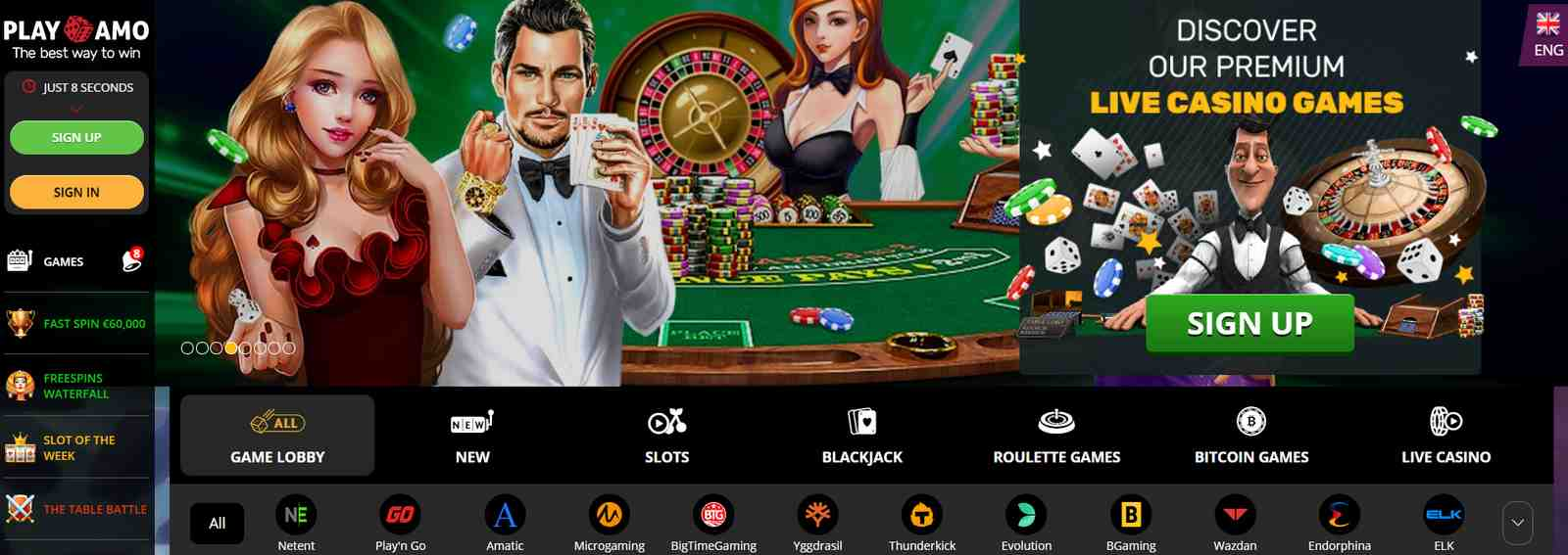 PlayAmo casino like a part of online gambling in Canada