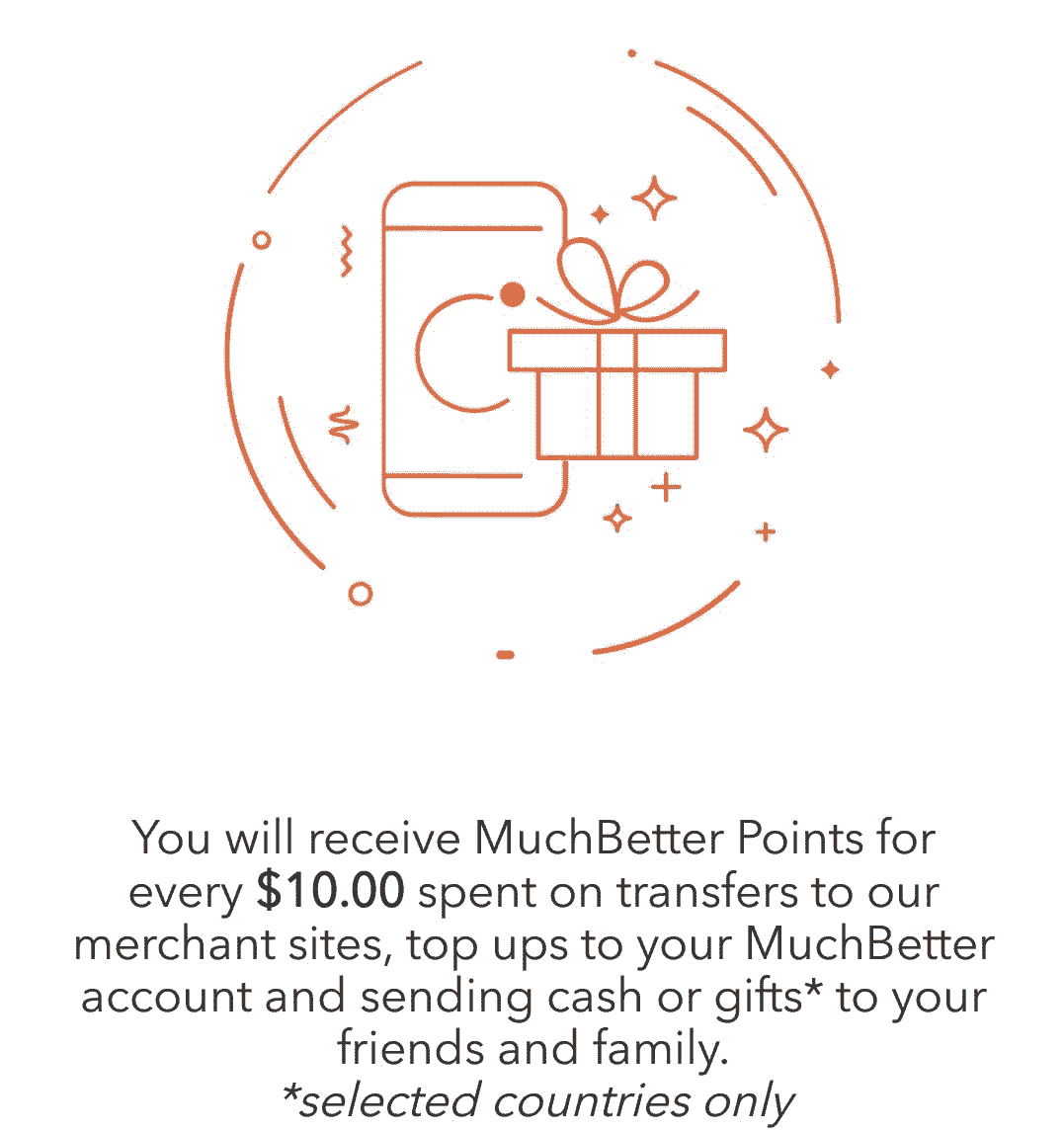 Muchbetter points Earned on Merchant Sites